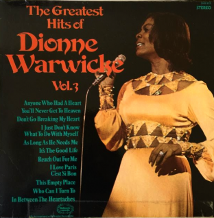 Dionne Warwick ‎- The Greatest Hits Of Dionne Warwick Vol. 3 (LP) (G+/G)
